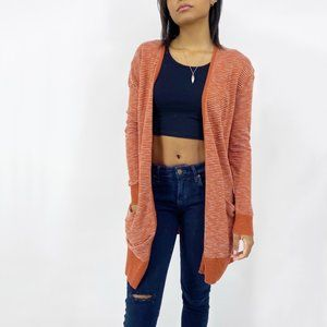 Madewell Long Cardigan Burnt Orange Oversized